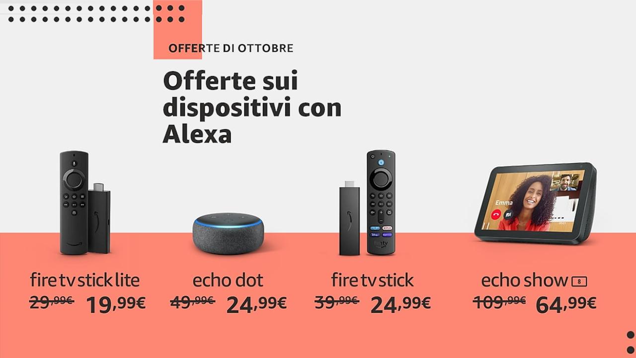 offerte dispositivi amazon alexa